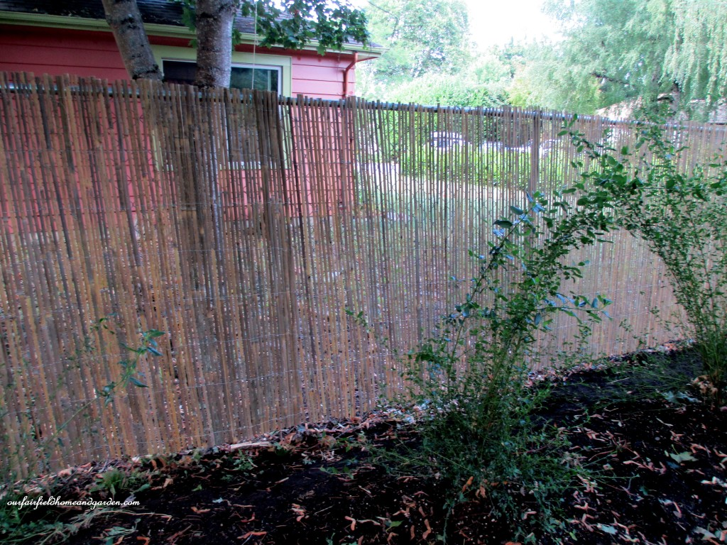 Diy Beautify A Chain Link Fence With Bamboo Our Fairfield Home Garden