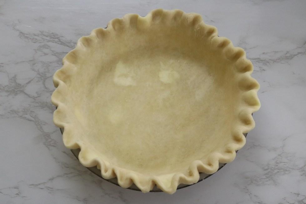 A single pie crust