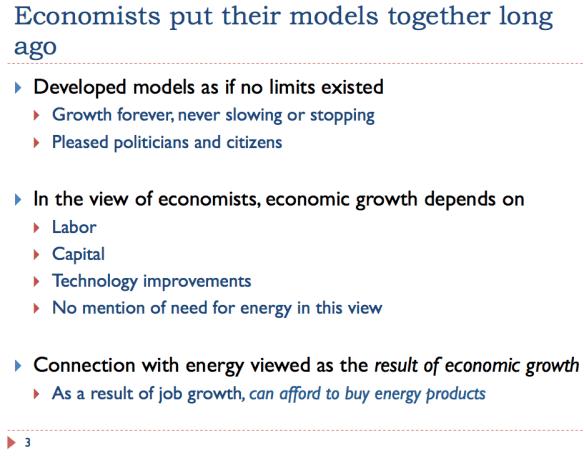 3 Economists put together models