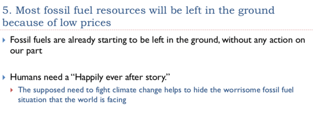 33. Most fossil fuels will be left in the ground because of low prices