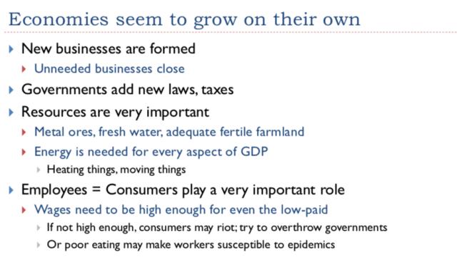 5. Economies Seem to Grow on their Own