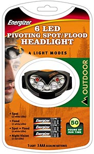 Energizer LED Headlight packaging