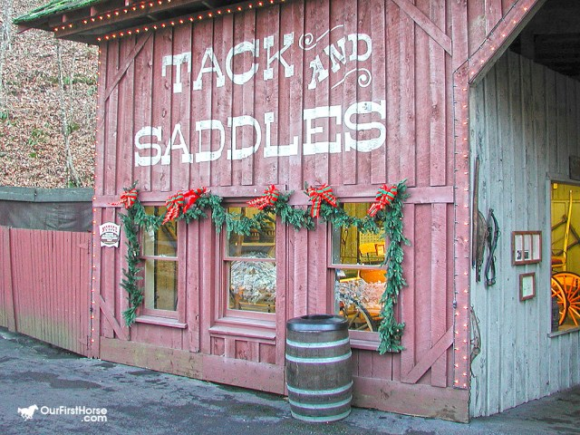 Tack store at Christmas