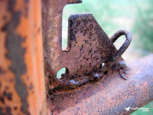 Rusty metal gate