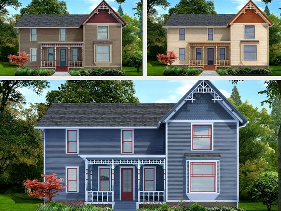 ThisOldHouse Photoshop Redo Coloring Inside The Lines Of A Folk Victorian Farmhouse
