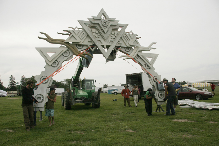 setting the Stargates in place