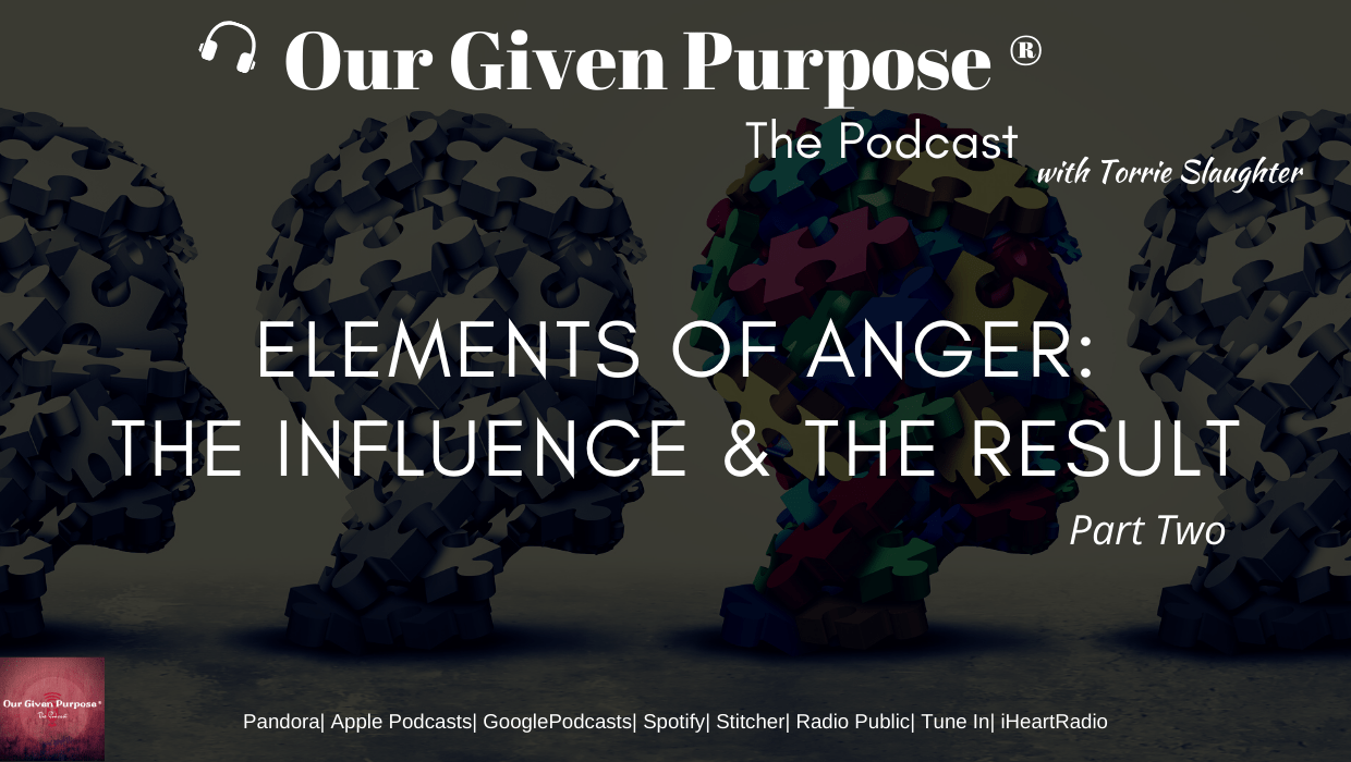 Elements of Anger: The Influence and Result, the Podcast Part 2