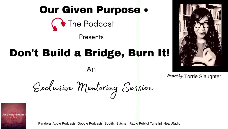 Don't Build a Bridge, Burn It!, The Podcast