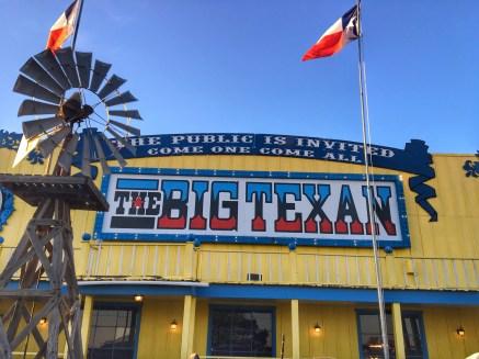 big texan sign