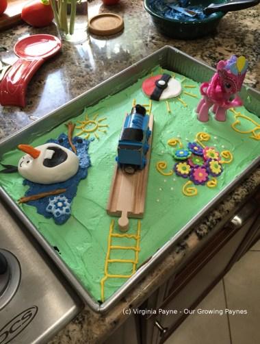 Olaf birthday cake 1 2015