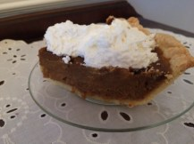 Pie slathered in whipped cream is a must.