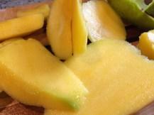Juicy mangos give this salad a sweet taste.