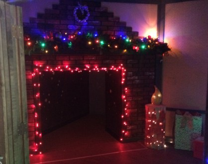 Remember the fireplace entrance to Santa's summer escape at Land of Make Believe?