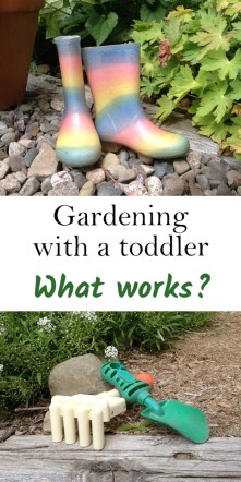Gardening with a toddler | ourguidetotheeveryday.com