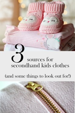 secondhand kids clothes | ourguidetotheeveryday.com