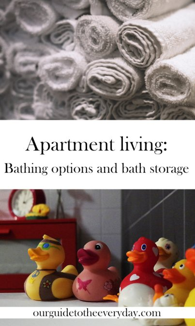 apartment living bathing the babe | ourguidetotheeveryday.com