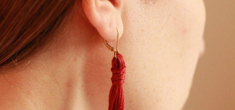 DIY Tassel earrings | ourguidetotheeveryday.com