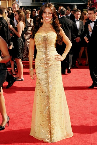 Sofia Vergara hairstyle at Emmy 2010