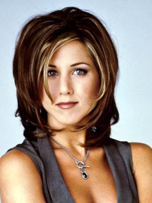 "Jennifer Aniston iconic ""Rachel"" Hairstyle"