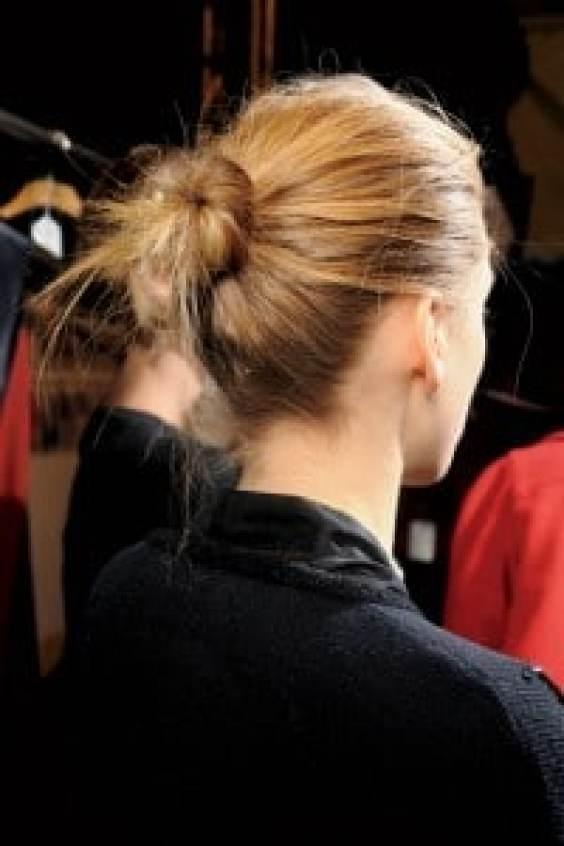 Messy Bun Hairdo Fall 2011