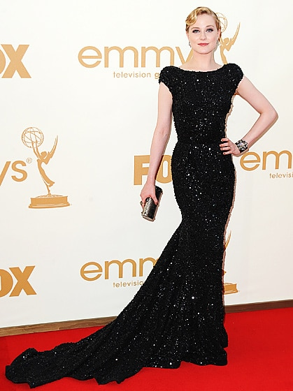 Evan Rachel Wood glam hairdo Emmy 2011