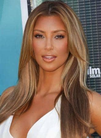 Kim Kardashian Caramel Blonde Hair