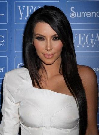 Kim Kardashian Straight Layered Hairstyle