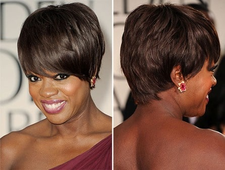Viola Davis haircut Golden Globes 2012