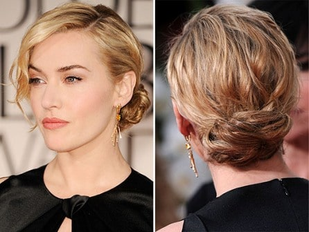 Kate Winslet hairstyle Golden Globe 2012