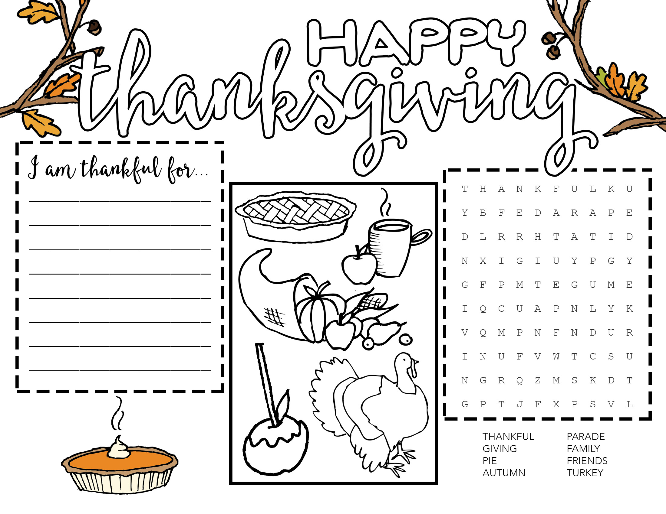 Catholic Worksheet For Thanksgiving