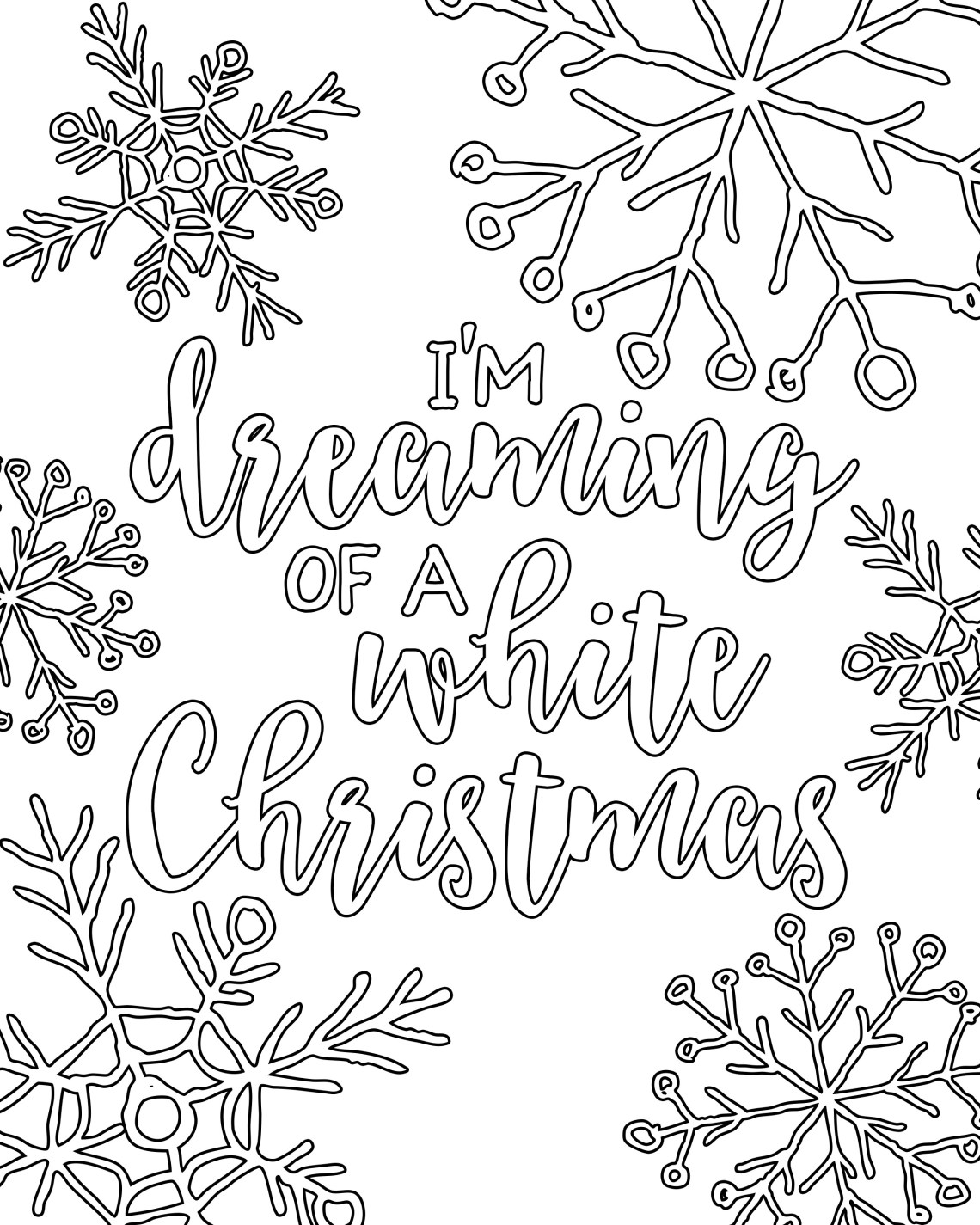 Free Printable White Christmas Adult Coloring Pages - Our ... | christmas coloring sheets for adults