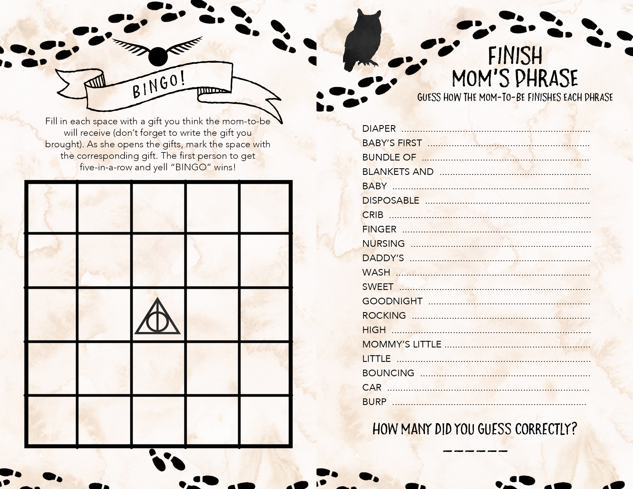 Harry Potter Trivia Printable That Are Slobbery