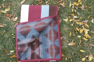 Tribal feather quilt