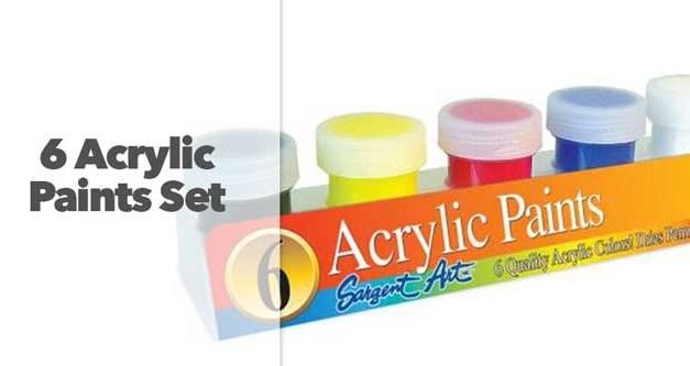 6 Acrylic Paints