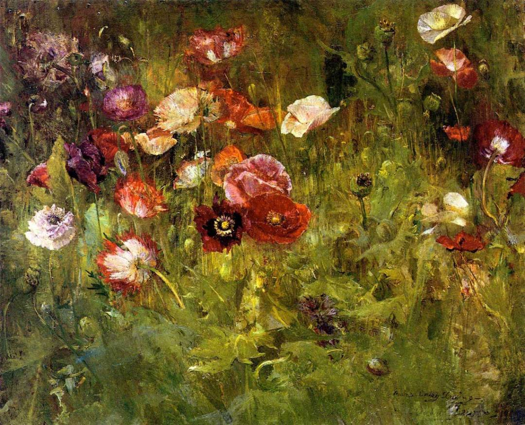 A Bed of Poppies - Dewing