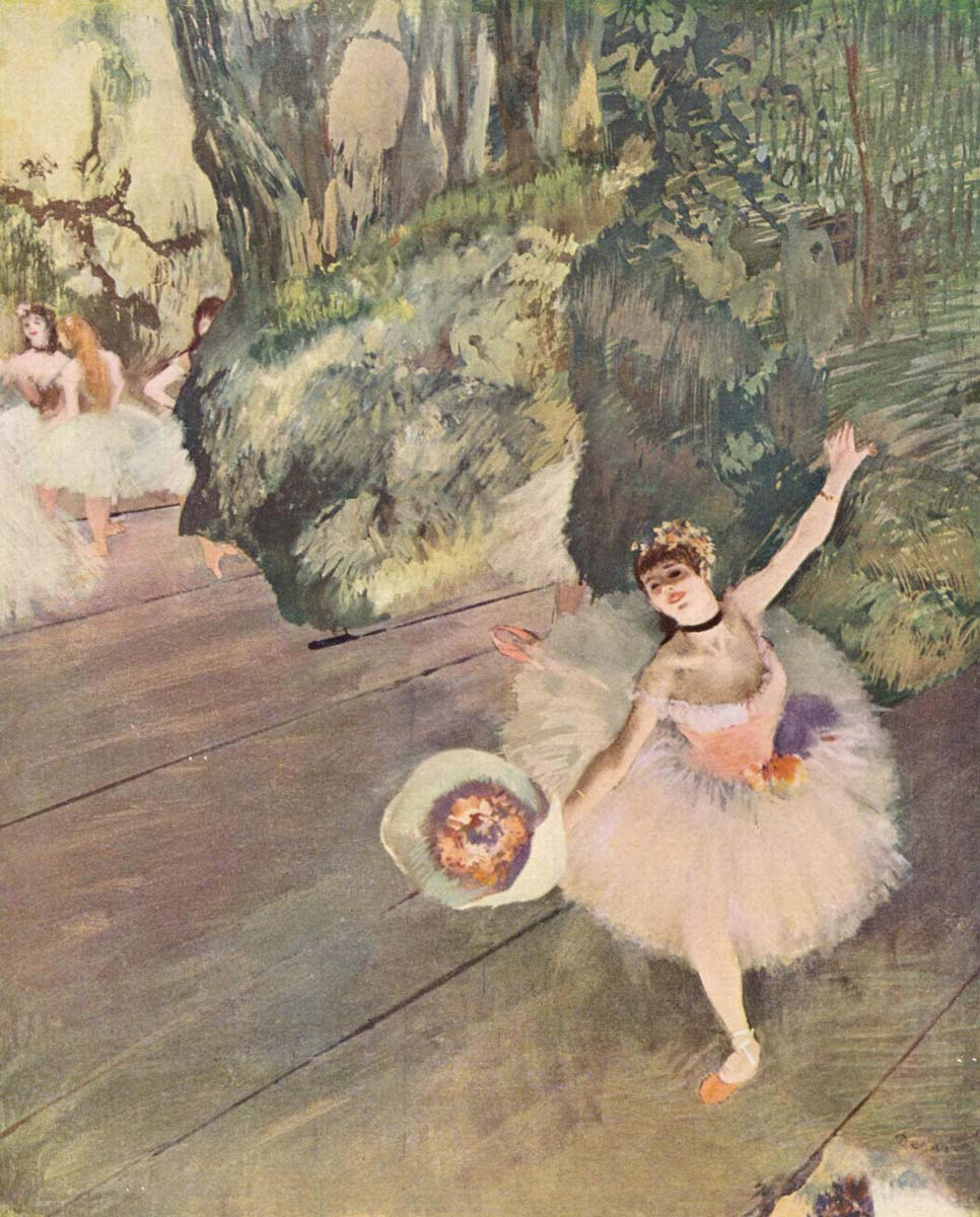Degas - Dancer with Bouquet of Flowers