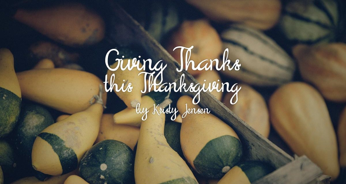 Giving Thanks This Thanksgiving
