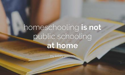 Homeschooling is not public schooling at home