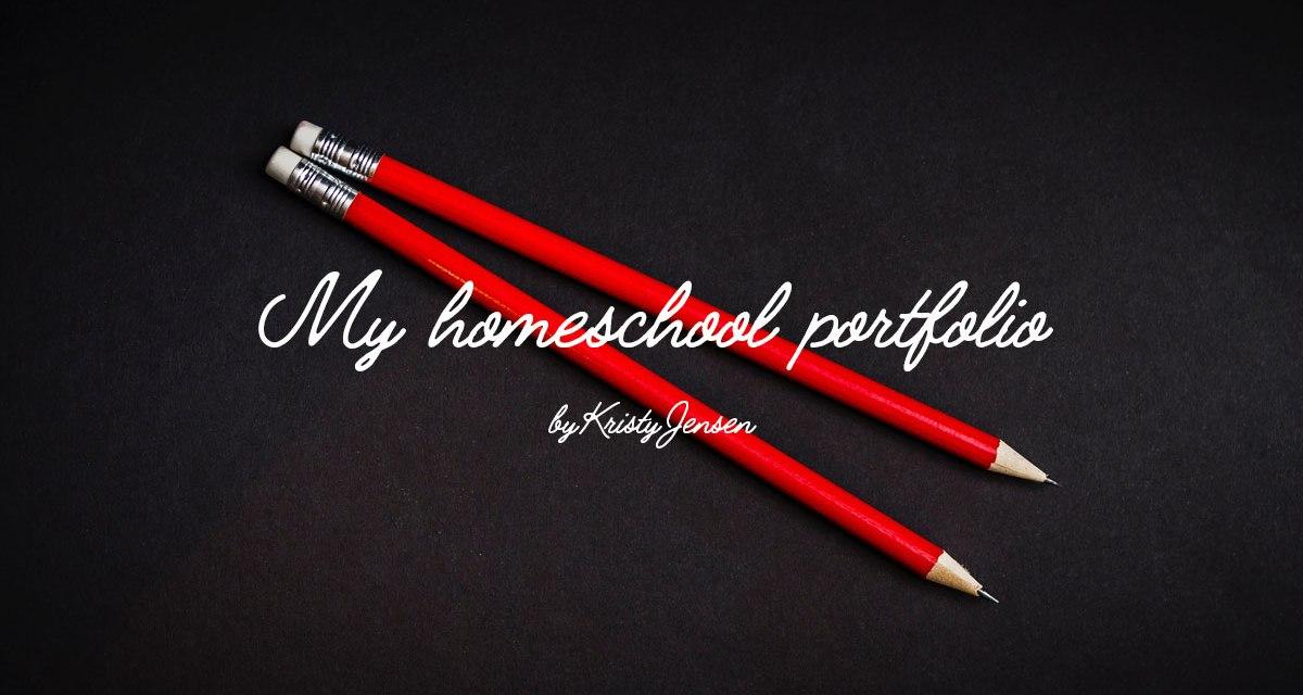 My homeschool portfolio