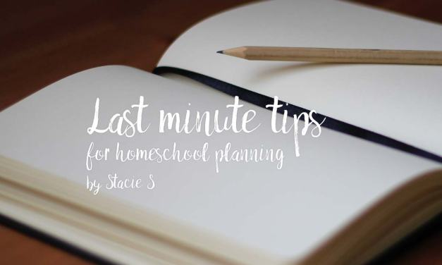 Last minute tips for homeschool planning