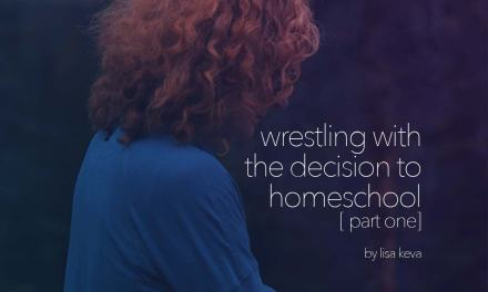 Wrestling with the decision to homeschool – part one