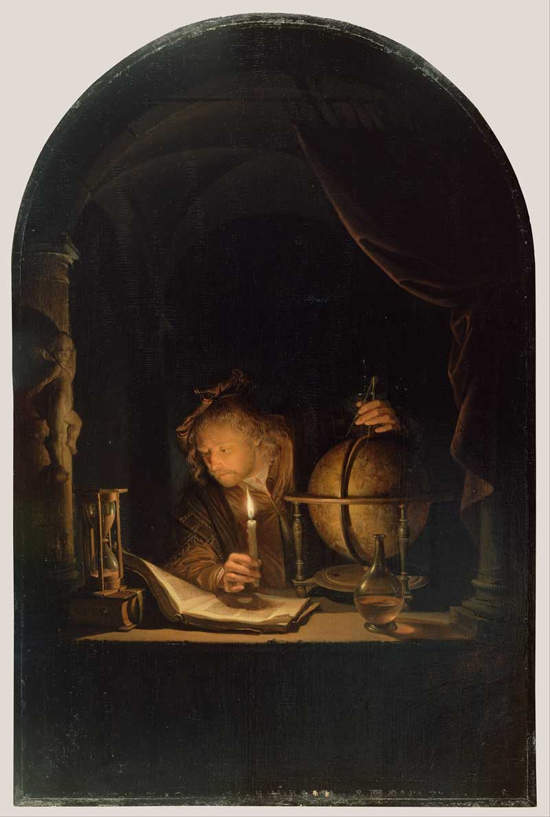 Gerrit Dou's Astronomer By Candlelight