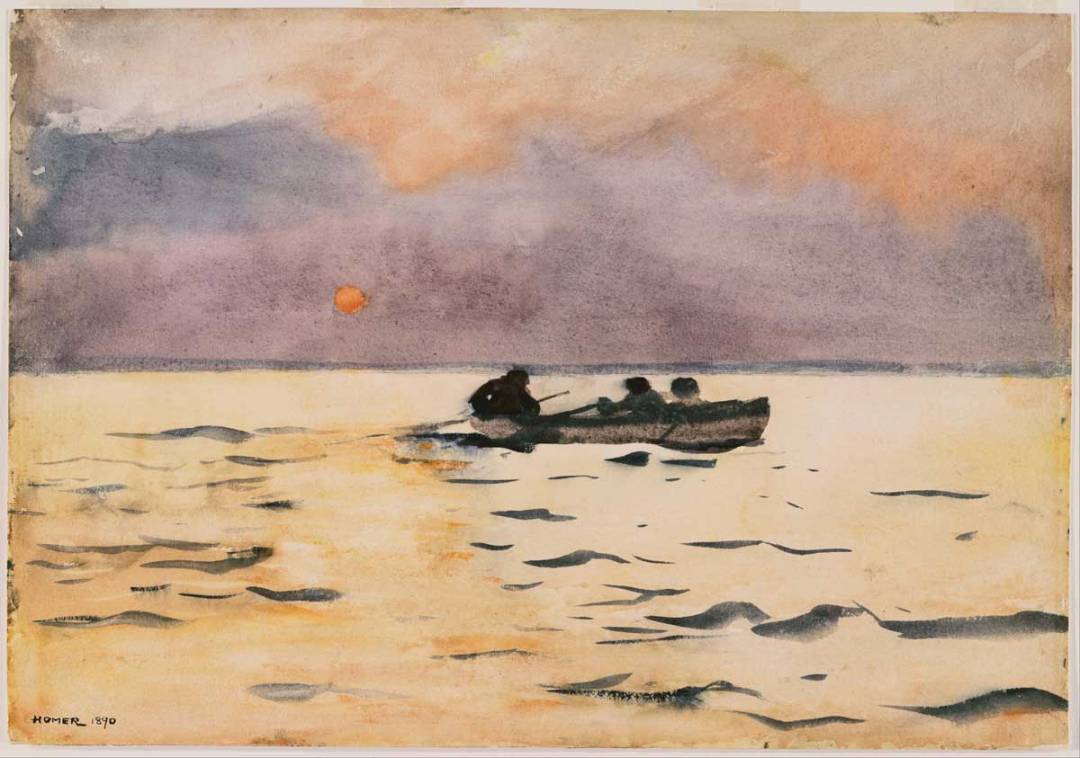 Winslow Homer's Rowing Home