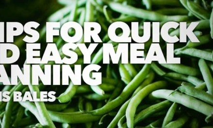 8 Tips for Quick and Easy Meal Planning