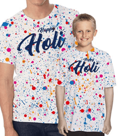 Holi Tshirts for Dad and Son