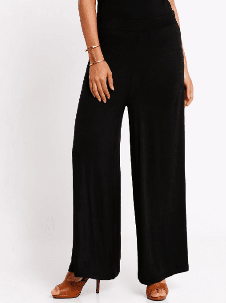 Black High-Waisted Flared Pants