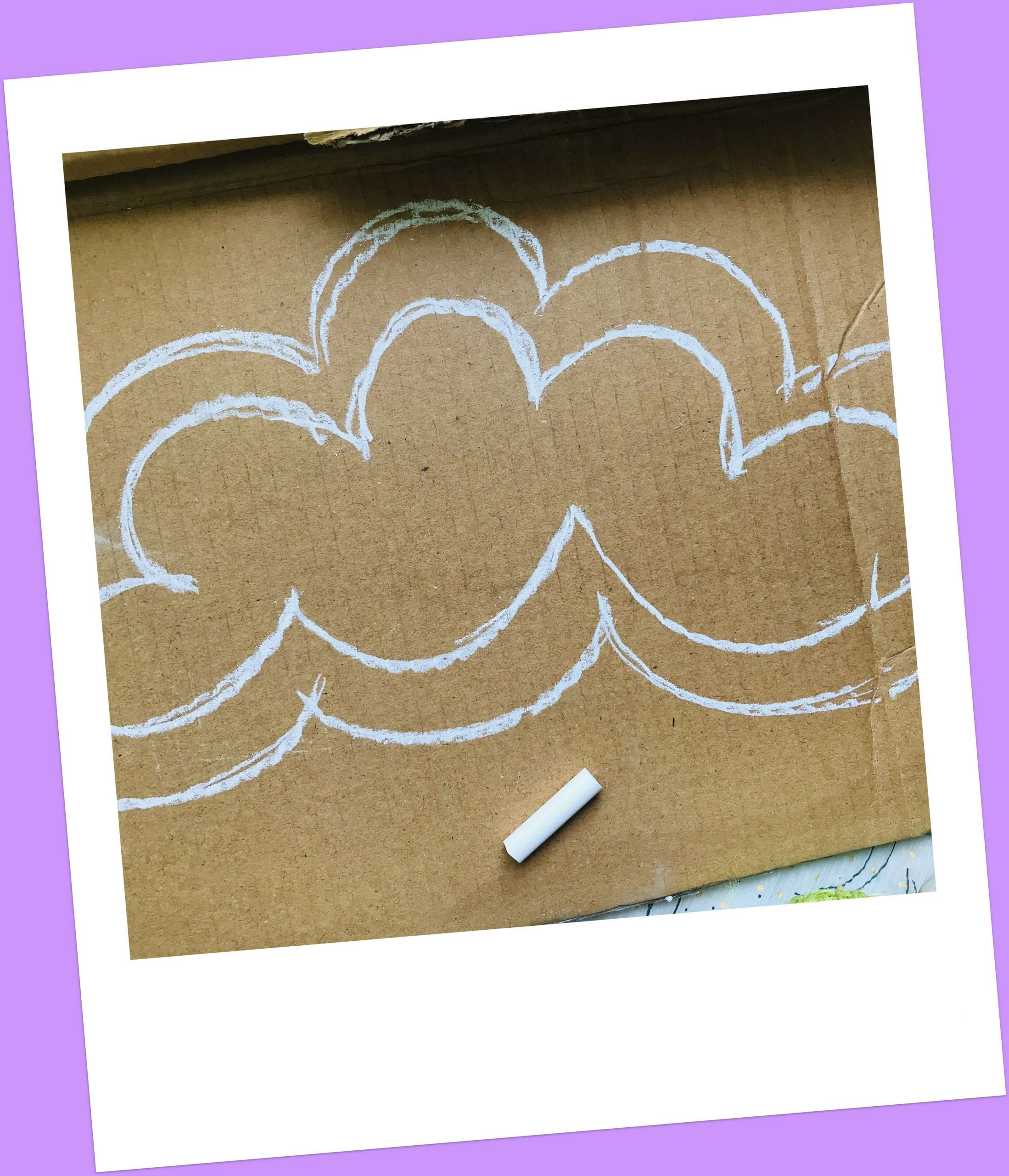 draw the shape on cardboard