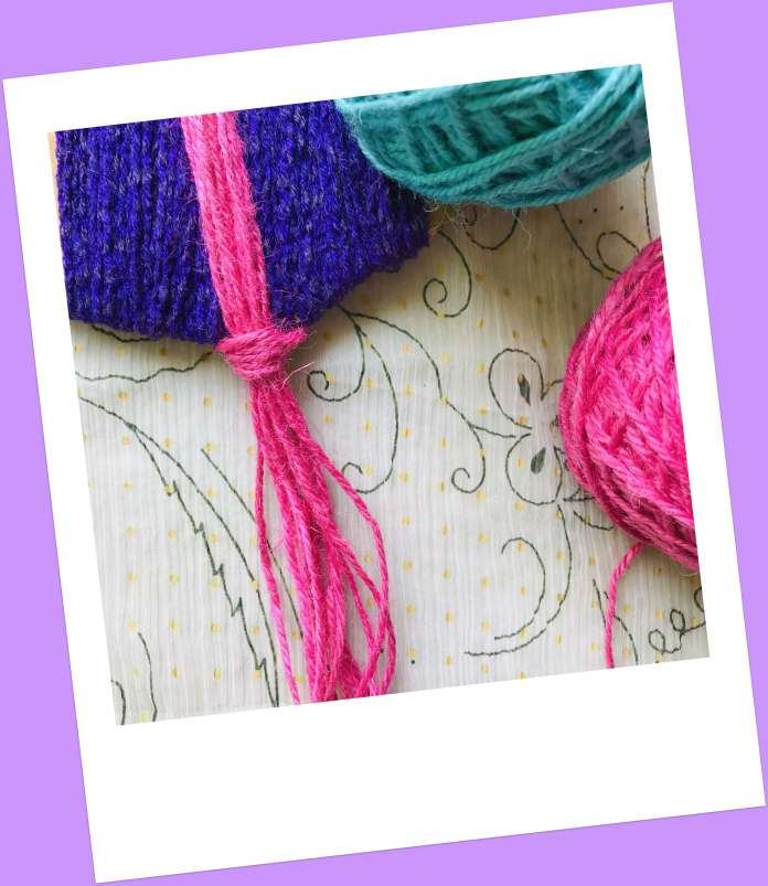 make tassels on stringed board
