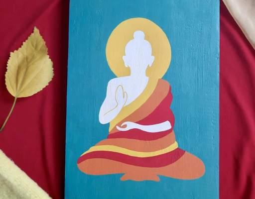 wood wall decor idea buddha