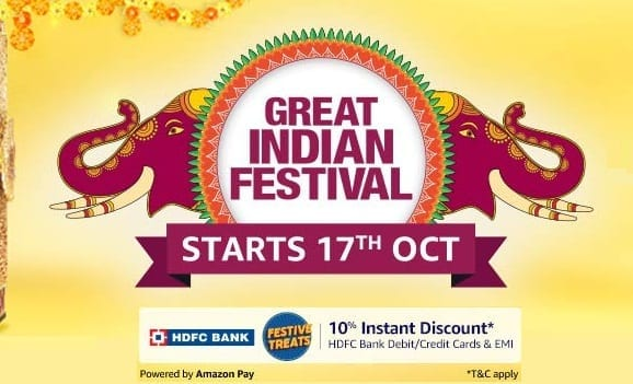 amazon great indian festival sale 17th oct 2020